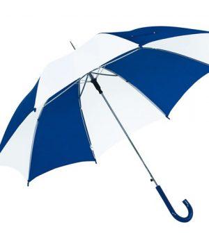 blå & hvid paraply