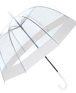 klar hvid paraply