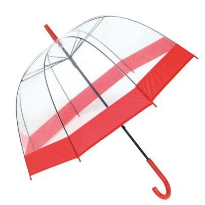 klar rød paraply