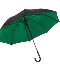 Mørkegrøn paraply