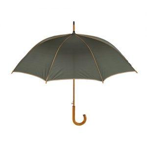 beige og mørkegrøn paraply