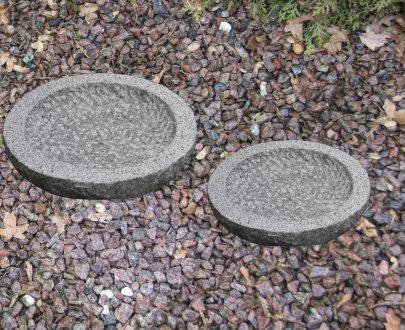 Gråt granit fuglebad