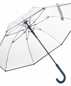 gennemsigtig marineblå paraply