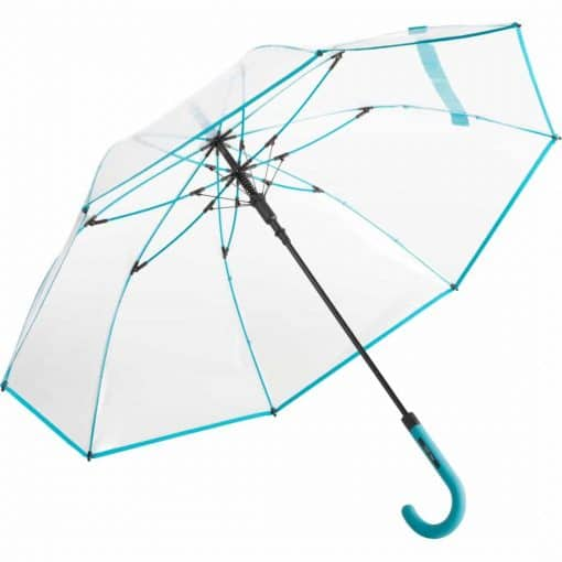 transparent petrol farve paraply