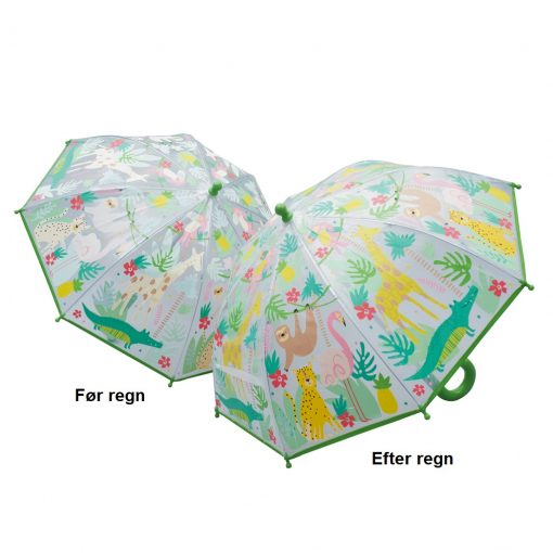 Børneparaply i junglen