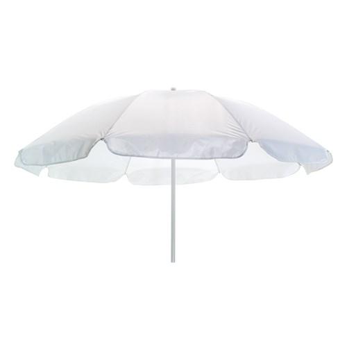 Hvid strand parasol