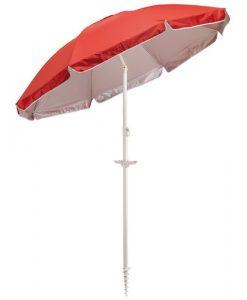 rød parasol