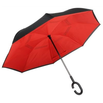 rød omvendt paraply