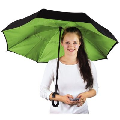 grøn omvendt paraply